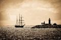ship entering fremantle harbour