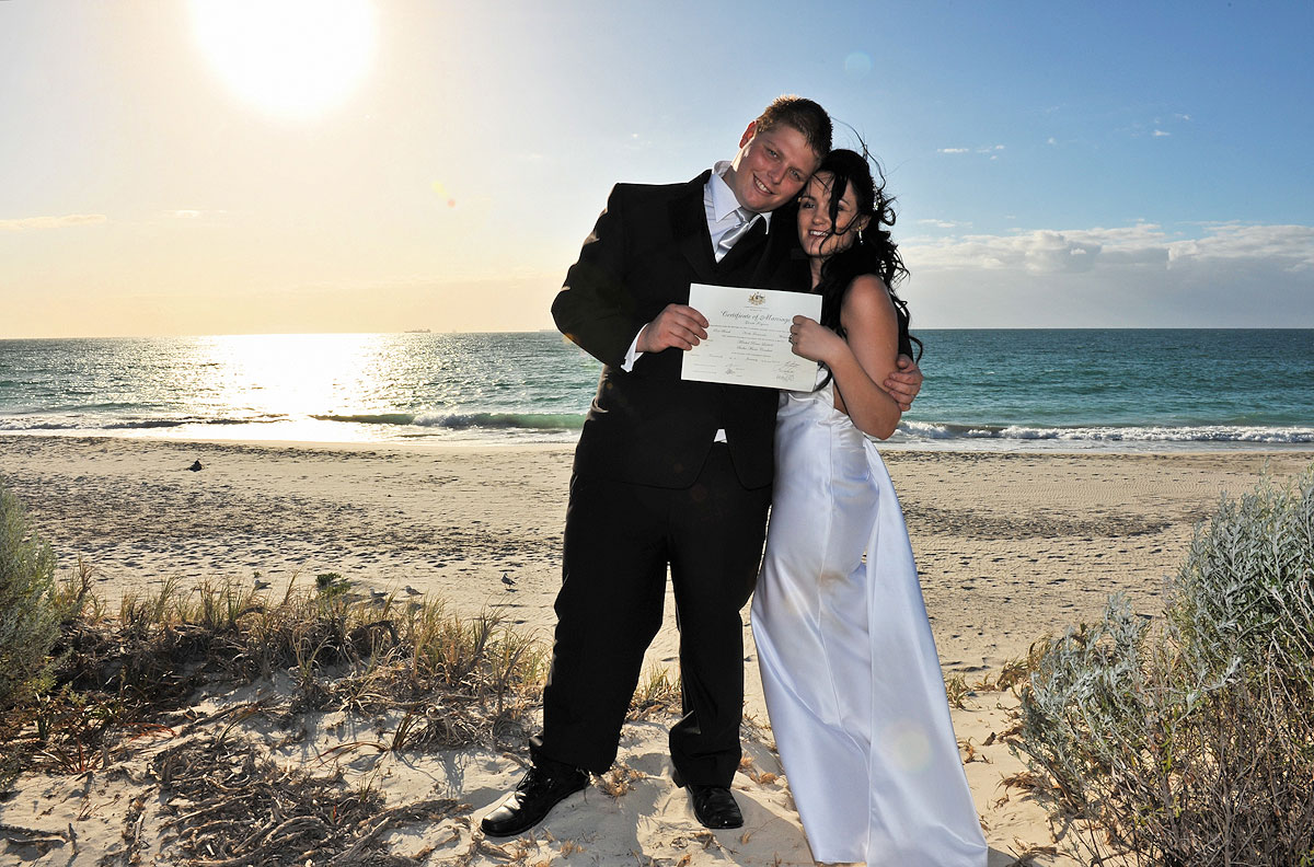 australian beach wedding perth